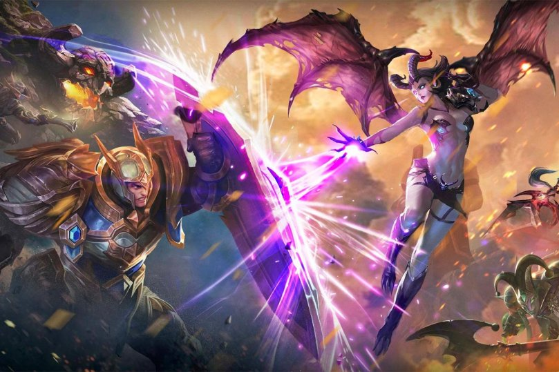 O mais popular moba mobile oriental é Arena of Valor