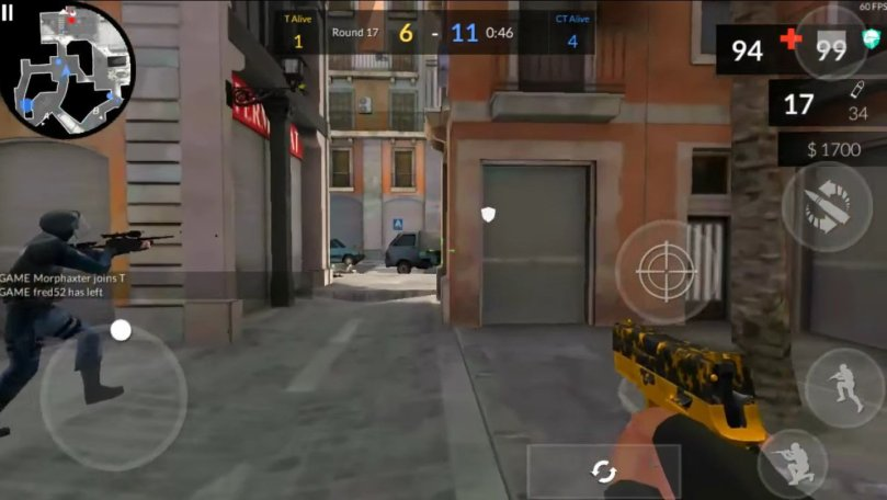 Imagem de gameplay do competitivo mobile
