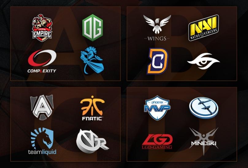 Marcas e logos de equipes competitivas