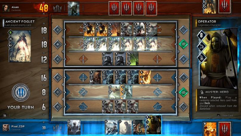 Gwent é o jogo de cartas de The Witcher 3
